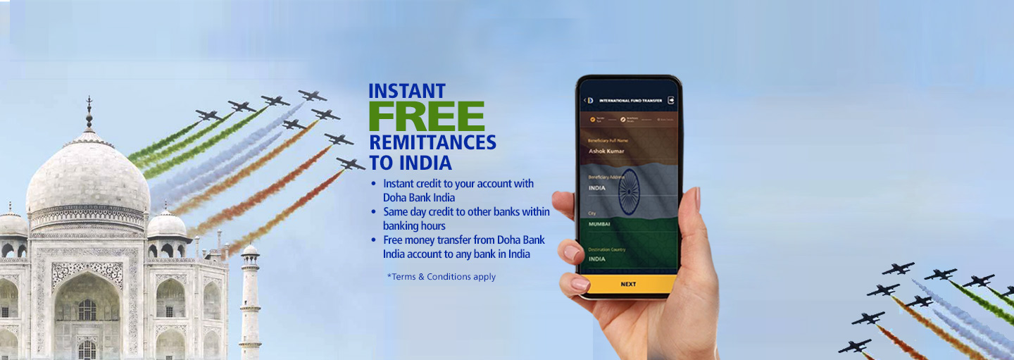 Free Remittance to India