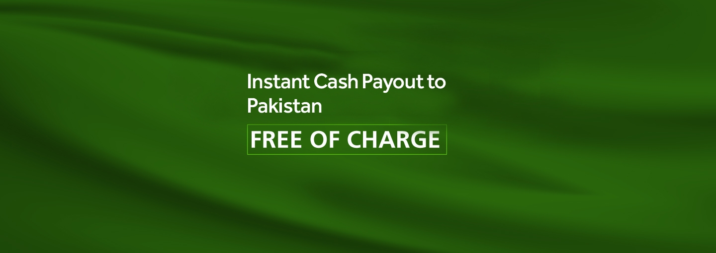 Instant Free Cash Payout to Pakistan