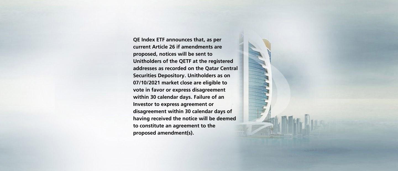 QETF Proposed Amendments